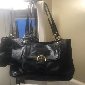 Coach leather hobo tote